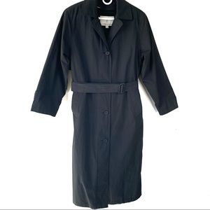 LONDON FOG Women's Lined Trench Coat Black Size 6